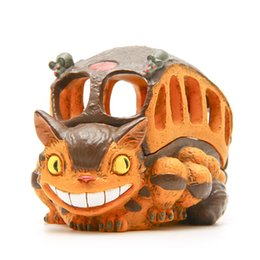 Wholesale Plastic Bus Model - Studio Ghibli My Neighbor Totoro Cat Bus Figure Toys DIY Multifunctional Totoro Bus Resin Action Figure Model Toy Storage Box