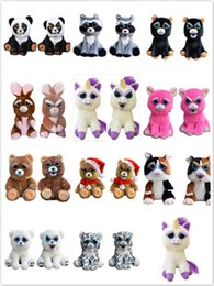 Wholesale Christmas Stuffed Panda Bear - Change Face Feisty Pets Plush Toys Unicorn Rabbit Karl Panda Bear Plush Stuffed Toys Unicorn Fun Toy For Kids Adults Christmas Gift