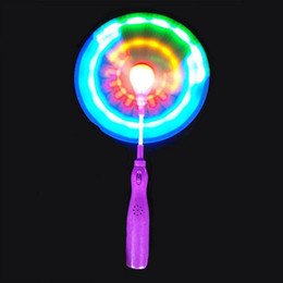 Wholesale Spinning Glow Toys - Wholesale- Windmills Light Up LED Spinning Windmill Glows Toys For Children Present Gift