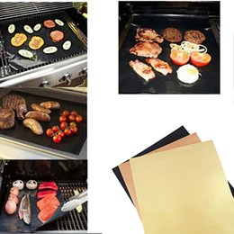 Wholesale Grill Accessories Wholesale - Teflon Non-stick Reusable BBQ Grill Mats Sheet Baking Mat for Barbecue Grill Sheet Cooking Outdoor BBQ Accessories 40*33CM 0702072