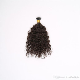 Wholesale I Tip Hair Extension Curly - Wholesale Virgin Brazilian I Tip Hair ,Kindly Curly Peruvian Indian Extensions Wavy I Tip 1g s 100g Natural Color 16-26 inch