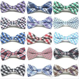 Wholesale Bowties Children - Children Fashion Formal Cotton Bow Tie Kid Classical Striped Bowties Colorful Butterfly Wedding Party Bowtie Pet Tuxedo Ties b432