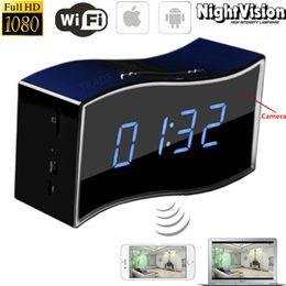 Wholesale Video Surveillance Clock - 1080P HD Night Vision WIFI Wireless Spy Hidden Camera Clock Mini Video Recorder DVR P2P IP Cam Home Security Surveillance Cam Baby Monitor