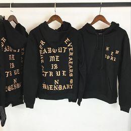 Wholesale Paul Hoodies - 2018 The Life Of Pablo Kanye West Hoodies Men Hip Hop Pull Paris Opening New Jackets I feel Like Paul Sweatshirts Y ee z us Tour