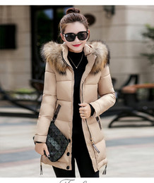 Wholesale Red Rabbit Fur Coat - Free shipping winter duck down jacket women long coat parkas thickening Female Warm Clothes Rabbit fur collar