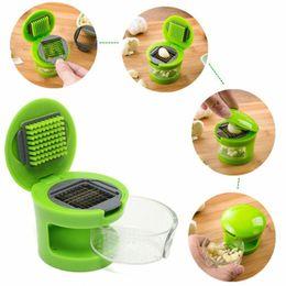 Wholesale Home Boxes - Practical Home Kitchen Tool Kit Garlic Press Chopper Slicer Hand Presser Garlic Grinder Box Independent Packing