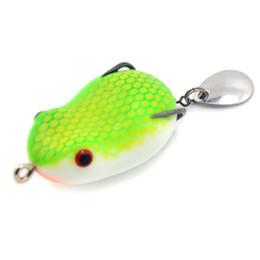 2019 la pêche à la grenouille EMS livraison gratuite Soft Frog Pêche Leurre 35MM 7G Grenouille Mou Bait Top Eau Avec Crochet Snakehead Pêche leurre nouveau promotion la pêche à la grenouille