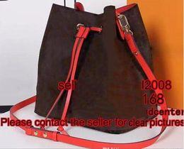 Wholesale Drawstring Handbag Zipper - HOT red black pink NEONOE M44021 PURSE cross body women's Genuine leather Drawstring bucket handbag luxury shoulder bag