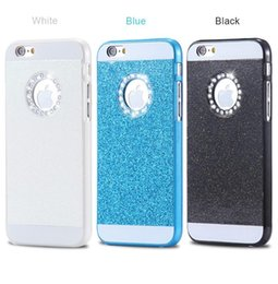Wholesale Luxury Cell Phone Cases Diamonds - Luxury Cell Phone Case For iPhone 6 Plus High Quality Hard Plastic Full Body Glitter Diamond Back Cover For iPhone 6   6S Plus