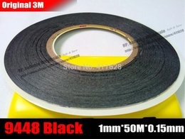 Wholesale 3m 9448 - Wholesale- 2016 (1mm*50 Meters), Ultra Thin & Slim 3M 9448 Black Double Sided Adhesive Tape for Mobile Phone Screen LCD Display Digitizer