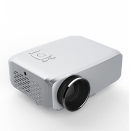 Wholesale Mini Analog Tv - GP9S Portable LED mini projector 800 Lumens Home Theater Beamer Full HD 1080P 3D VGA HDMI Analog TV USB SD AV Input Projector