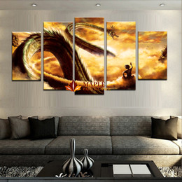 Wholesale canvas paints for sale - Wholesale Canvas Art New Hot Sale 5 Piece Modular Home Decor Wall Art Dragon Ball Landscape Canvas Wall Art Home Decor For Living Room