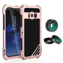 Wholesale Apple Fish - For Iphone X 8 7 Plus Waterproof Shockproof Metal Aluminum Cover Case for Samsung 8 Plus Camera Lens Fish Eye Wide Angle Cover Retailpackage
