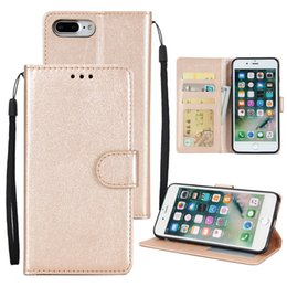 Wholesale Note Stand Cover - High Quality PU TPU Leather Wallet Case Cover With Card Slots Stand For iPhone X 8 7 6 6s Plus Samsung Galaxy Note 8 S8 Plus S7 Edge OPP BAG