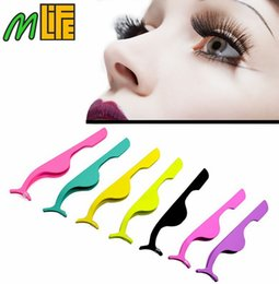Wholesale Eyelash Eye Lashes Clip Curler - 8colors Curvex clip stainless steel eyelash curler sexy Eye Lash Applicator Makeup Cosmetics Tools eyes curling for lashes