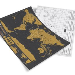 Wholesale Stockings For Kids - new hot In Stock Deluxe Scratch Map Deluxe Scratch World Map 82.5 x 59.5cm R h48