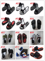 Wholesale Sandals Watermelon - 2017 new cheap sale Air Retro slippers sandals Hydro Retro Slides size 8-13 Free shipping basketball shoes retro sneakers for 36color