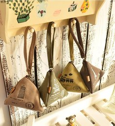 Wholesale Cream Bow Belt - Summer new trend cute Paris Tower creative wallet canvas bag retro purse purse package cool 17061314