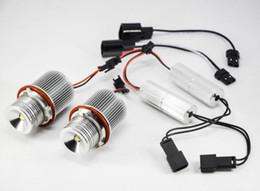 Wholesale Bmw E39 Headlights Xenon - 1 Pair 10W CREE 1LED*10W Angel Marker Eyes Kit Canbus Error Free Halo Bulb Headlight Xenon White FOR BMW E39 E53 E60 E61 E63 E64 E65 E66 E87