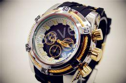 Wholesale Chronograph Swiss Watches - 2017 Christmas gift luxury Fashion Men 14428 Jason Taylor Analog Display Swiss Quartz white black watches free shipping