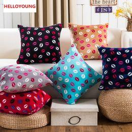 Wholesale Lips Throw Pillows - BZ118 Luxury Cushion Cover Pillow Case Home Textiles supplies Red Lips Plush decorative throw pillows chair seat
