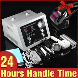Wholesale Hot Roller Machine - Newest Microdermabrasion Peel Scrubber Photon Skin Rejuvenation Ultrasound Cold Hot Hammer Wrinkle Removal Beauty Machine Microneedle Roller