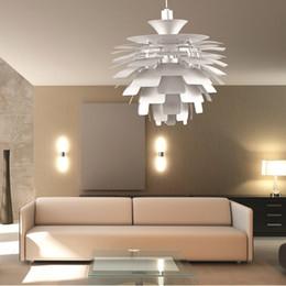 Artichaut de lampe en Ligne-Version européenne en aluminium PH Artichoke Plafonnier Suspension Suspension éclairage avec couleur blanche et rouge 38CM
