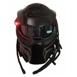 Wholesale Mask Moto - Masei 2017 New Matte Black   Bright Black Predators helmet mask Fiberglass motorcycle Iron Man helmet Full face moto helmet