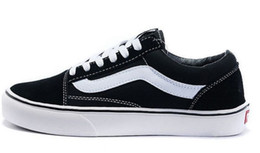 Wholesale Classic White Sneakers - Classic Old Skool Low Cut Casual Canvas Shoes Classical White Black Brand Women And Mens Sneakers Skateboarding Shoes Spring Autumn