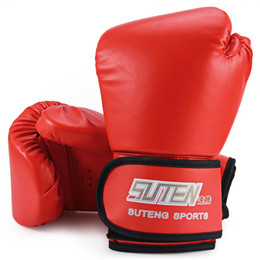 fighting training gear Promo Codes - 1 Pair PU Soft Foam Rubber Boxing Gloves Kickboxing MMA Training Sandbag Fighting Sandbag two-layer foam