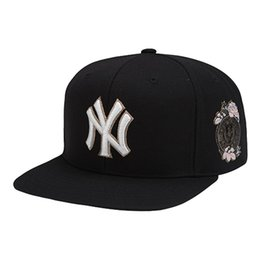 Wholesale Wholesale Snapback Fitted - Brand MLB Baseball Caps Classic Yankees Snapback Ball Cap Clean Adult Hat 3 Color Hip Hop Hat