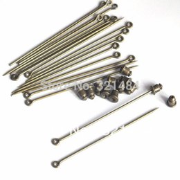 Wholesale Eye Pins For Jewelry - antique bronze 60mm sharp tip eye safety pin with back stopper set brooch pins findings for jewelry beads making diy