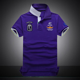 Wholesale Collared T Shirts For Men - Polo Shirts for men Wholesale and Retail T shirts High Quality Fashion poloshirt men Purple Blue Red Gray Black Short Sleeve 2017 Summer