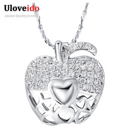 925 silver apple pendant necklace coupons promo codes deals 2018 925 silver apple pendant necklace promo codes 925 silver necklaces woman pendants fashion necklace simulated aloadofball Gallery