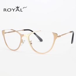 Wholesale Vintage Optic Glass - Wholesale-ROYAL GIRL Women Vintage Eyeglasses Frame Retro Optics Clear lens Glasses ss555