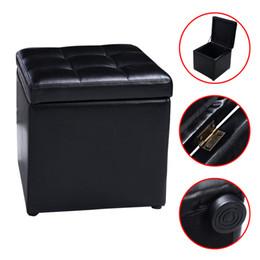 Wholesale Storage Lounge - Cube Ottoman Pouffe Storage Box Lounge Seat Footstools with Hinge Top New