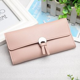 Wholesale Bag Pink Korean - Hot Selling Long Design Women Wallets High Grade Fashion Bag Zipper Coin Purse Handbag Brand Long Purse Selling Brand Handbags