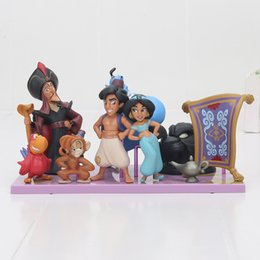 Wholesale Designer Goods - 8pcs Aladdin and the Magic Lamp Princess Jasmine Evil Monkey Tiger Fairytale Designer Collection Doll Set Cosplay Action Figure Toy