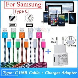 Wholesale Pro Usb Cable - High Quality 2.0A USB Wall Charger Adapter + USB Type C Cable For Samsung Galaxy S8 Plus C9 Pro A3 (2017) A5 (2017)