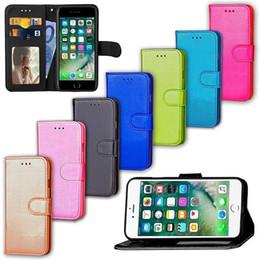 2019 soporte para fotos Flip Stand Wallet Funda de cuero con marco de fotos Phone stand back Funda de protección para iphone 7 iphone7 plus