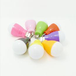 Wholesale Small Led Lights 24v - USB small light bulb color LED mini lamp USB computer mobile power supply emergency lamp LED energy saving lamp