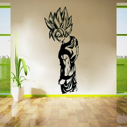 Super Saiyan Goku Vinyl Decalcomania da muro - Dragon Ball Z, DBZ Anime Wall Art, Adesivo Livello diamante DIY da