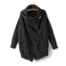 Wholesale Plus Size Cardigans Shrugs - Wholesale-Women Basic Coats Women Sweaters Cardigan Coat 2016 Autumn Winter Cardigan Shrug Sweater Loose Blouse Poncho Plus Size C2336