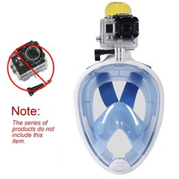 Wholesale Breathing Face Mask - 180° Panoramic View Full Face Snorkel Diving Mask- Natural Breathing with Longer and Foldable Tube, Anti-Fogging, Anti-Leaking