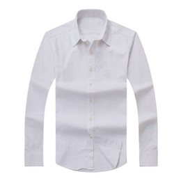 Wholesale Shirts Long Fit - 2017 new Fall Men's Long Sleeve Shirt Cotton Shirt Men's polo Casual Solid Regular fit Men's Shirts fashion Free Shipping
