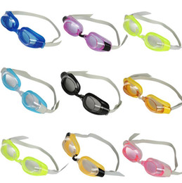Wholesale Child Swim Goggles - Wholesale Anti-Fog Swim Goggles Kids Children Baby Boys Girls Swimming Goggles Anti-fog Swim Glasses Adjustable Drop Shipping