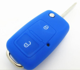 Wholesale silicone case cover key vw - VW 2 button flip Key cover Silicone Case For VW 2 buttton remote key VW Polo Passat