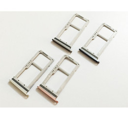 Wholesale Dual Sim Card Holder - Original SIM Card Tray Slot Holder Adapter For Samsung Galaxy S7 edge G935 Single   Dual Repair Parts.