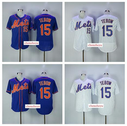 Wholesale New Mens Jersey - 2017 New York Mets Jersey Mens #15 Tim Tebow White with Blue Baseball Jerseys Free shipping