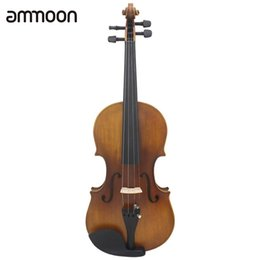 Wholesale Ebony Board - Wholesale-4 4 Full Size Violin Fiddle Solid Wood Matte Finish Spruce Face Board Ebony Fretboard with Hard Case Bow Rosin Clean Cloth